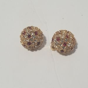 Alice Caviness Clip on Earrings . Vintage